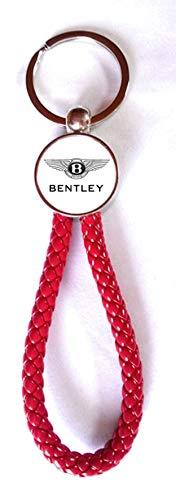 Print Corner Schlüsselanhänger Red Dynamic Kunstleder geflochten/Metall – Bentley (2 Seite)
