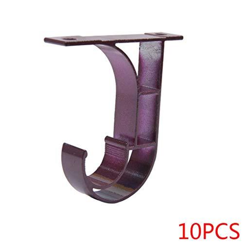Demino 10 stks Top Mounted Plafond Verlaagde Beugel Romeinse Romeinse staaf stand plafond staaf Enkele houder Basis Stand Gordijn Accessoires