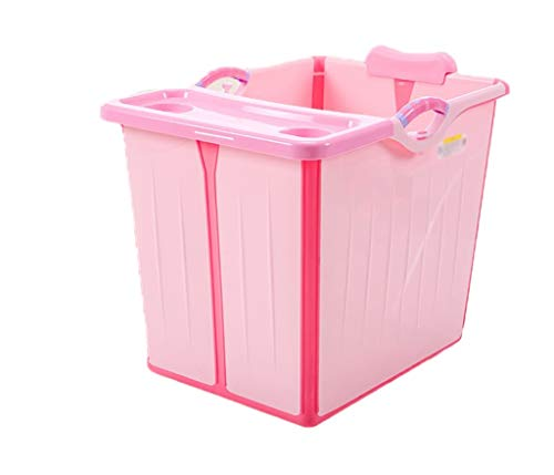 Kjz Opvouwbare plastic badkuip, kinderwarmte-onderhoud, hotel-decoratieve douchebak, diepe douchecilinder 50,8 x 41,7 x 52,3 cm