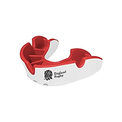 Opro Silver Mouth Guard   Gum Shield for Rugby, Hockey, Wrestling, and Other Contact Sports - 18 Month Dental Warranty (RFU, Youth) from Opro