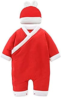 Fulision Baby Romper Pajamas Cotton Long Sleeve with Hats Newborn Jumpsuit Onesie