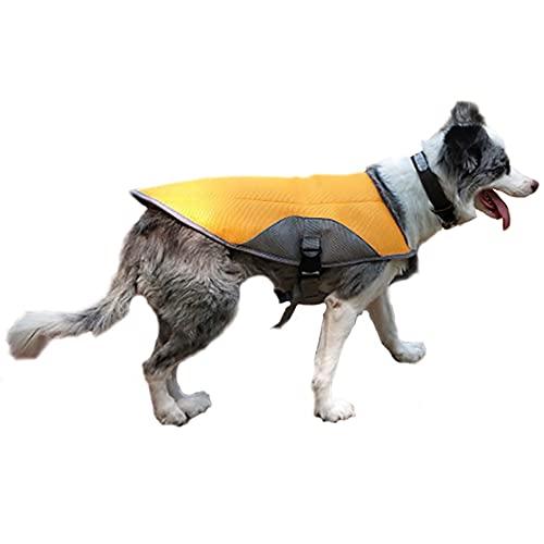 ICOUCHI 犬用 冷却ベスト クールベスト 犬 冷感犬服 小型/中型/大型犬 熱中症対策 冷却コート ジャケット ひんやり 暑さ対策 快適 着脱簡単 通気性 耐久性 汗吸収 ドッグウェア クール犬用夏服?お散歩 ペット用品
