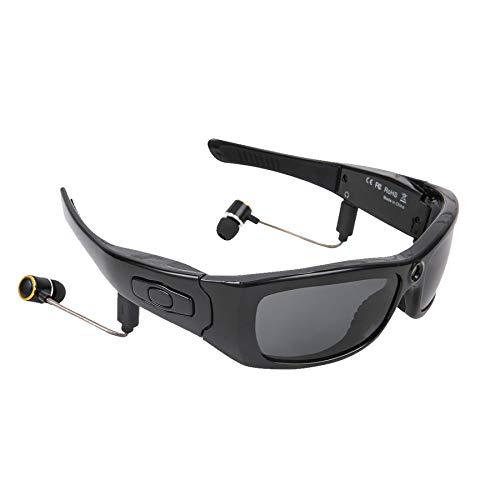 Bluetooth Sunglasses Camera, HD 1080P Camera Glasses Wearable Mini Video Camera, Sport Design for Cycling, Driving, Fishing, Traveling, Great Gift for Family and Friends
