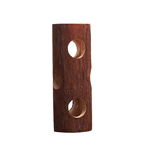 TEHAUX Chew Wood- Juguete de tubo de madera para mascotas, hámster comestible, tubo de madera, juego práctico herramientas de ocio para loro, hámster sirio
