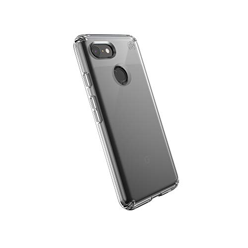 Speck Presidio Stay Clear Slim Case with Raised Bezel Screen Protection for Google Pixel 3, Clear