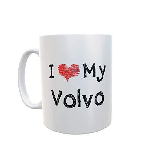 Volvo Mug Gift – I Love Heart My - Novelty Cute Car Owner Driver Ceramic Cup