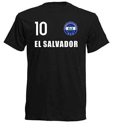 Nation EL Salvador T-Shirt Trikot Wappen FH 10 SC (XL)