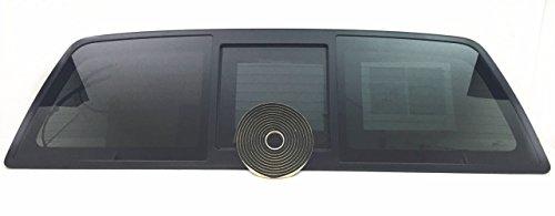 NAGD OEM Heated Sliding Back Window Glass Back Power Slider Compatible with Ford F150 Pickup 2004-2014 Models