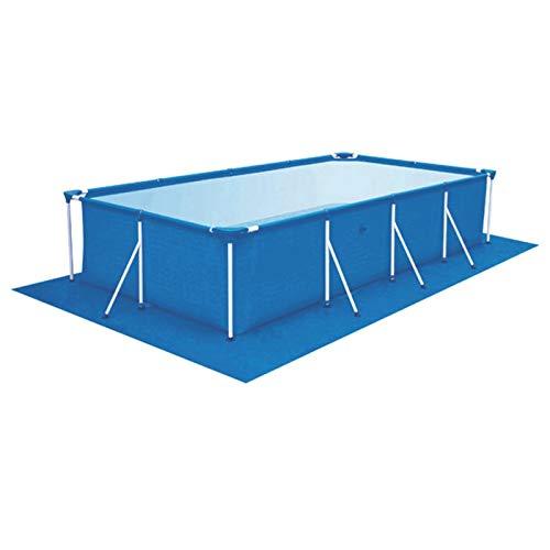 Grondzeil voor zwembad, grondzeil, zwembadmat, rechthoekig en opvouwbaar, van polyester
