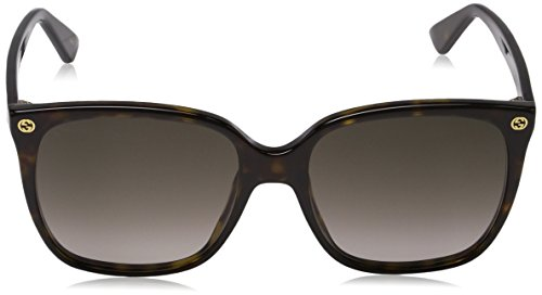 [category] Gucci Women Design Sunglasses GG0022S 003 Havana Brown Gold With
