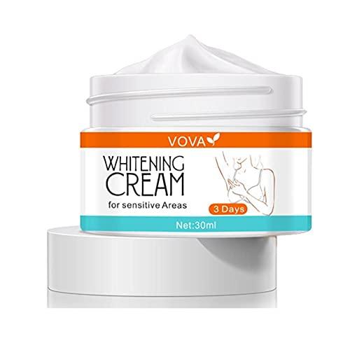 Crema blanqueadora corporal Crema iluminadora de la piel eficaz para axilas, rodillas, codos, áreas sensibles y privadas, repara y restaura la piel