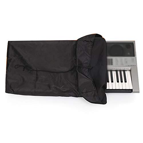 FYZS Teclado Elastico Protector contra el Polvo, Se Ajusta A 61/88 Teclados, Teclado de Piano de Guardapolvos, Cordon Elastico Ajustable, Lavable A Maquina (Color : Black, Size : 61 Key)
