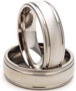 7mm Titanium Ring, Titanium Wedding Rings Men's Rings Titanium Jewelry