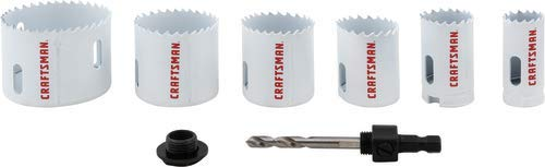 CRAFTSMAN Hole Saw Kit, Bi-Metal Set, 7-Piece (CMAH1SET7)