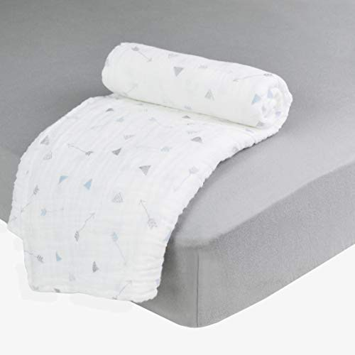 Buy Discount American Baby Company New Baby Welcome Kit with Muslin Cotton Swaddle Blanket and Fitte...