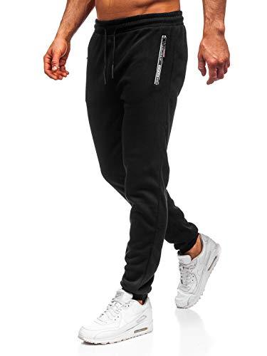 BOLF Herren Sporthose Trainingshose Jogginghose Fitnesshose Freizeithose Joggerhose Sport Style Must JX8930 Schwarz M [6F6]