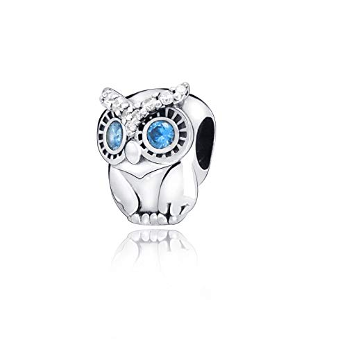 Fit Original Pandora Bracelets 925 Sterling Silver Diy Charms Autumn Collection Beads Sparkling Owl Women Jewelry