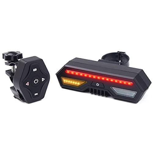 DLZP Lámpara de dirección de la Bicicleta, resaltado LED, Tres Modos, lámpara de Carga de Control Remoto con USB inalámbrico, Luces traseras de Bicicleta, Adecuado para Todas Las Bicicletas