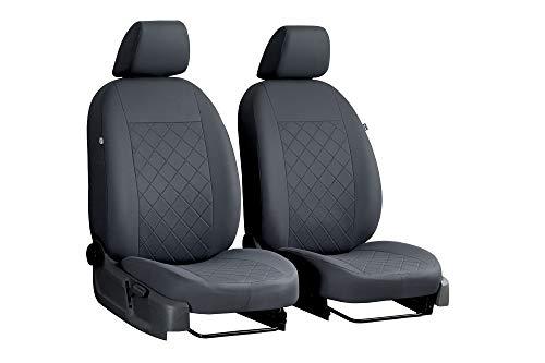 Carpendo Sitzbezüge Auto Vordersitze Autositzbezüge Schonbezüge Vorne - Airbag geeignet - Grau