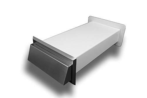 Flachkanal Edelstahl Mauerkasten Wanddurchführung flach Abluft Zuluft: 150 (90x220) System 150 (90x220)