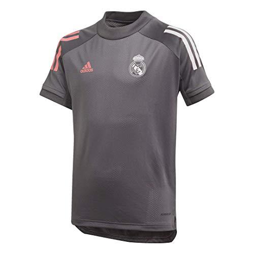 Adidas Real Madrid Temporada 2020/21 Camiseta Entrenamiento Oficial, Niño, Gris, S (9-10 años)
