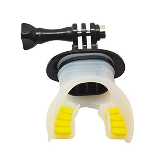 ZDYS Soporte para Soportes dentales Silicona Suave Kayak Piragüismo Proyectos acuáticos Accesorios Cámara acción práctica con cordón Montaje en la Boca Buceo Surf Submarino para (Negro)
