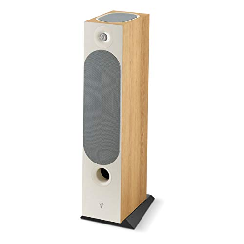 Best Buy! Focal Chora 826-D Floorstanding Speaker with Built-in Dolby Atmos Modules - Each (Light Wo...