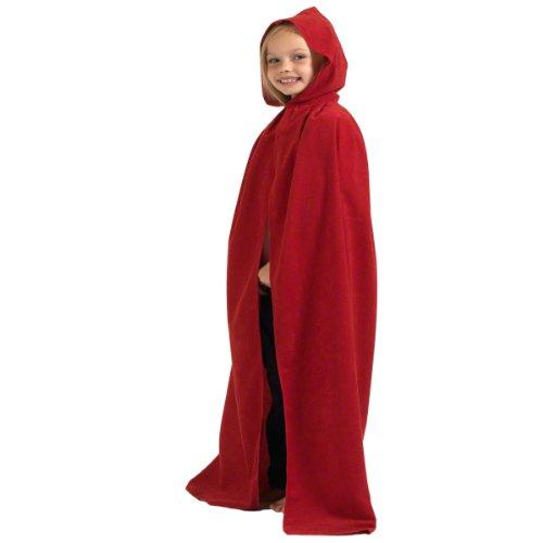 Charlie Crow Rouge. Déguisement Cape avec Capuche déguisement pour Les Enfants. Taille Unique 8-10 Ans.
