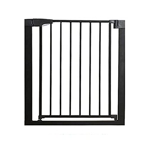 JHAISMAO Barrera de Seguridad de Niños para Puertas y Escaleras Open N Stop KD Safety Incl. Puerta para Mascotas con Cierre automático para Puertas y pasillos (Size:61-68cm,Color:Negro)
