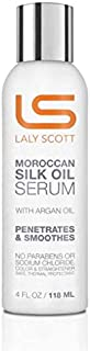 Moroccan Silk Oil Serum With Argan Oil - Lalyscott 4Oz. - Penetrates & Smoothes | No Parabens Or Sodium Chloride | Color & Straightener Safe, Thermal Protectant