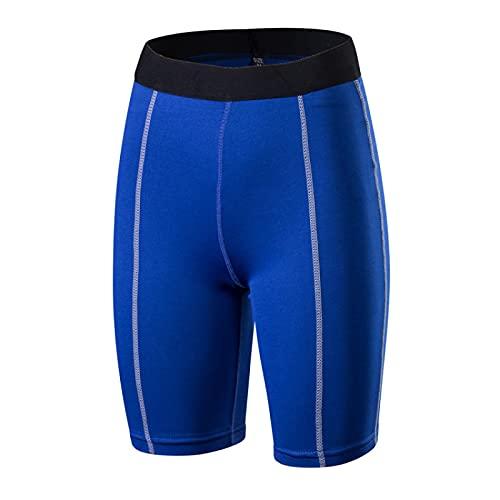Huntrly Pantalones Cortos para Mujer Gimnasio Entrenamiento Ajustado Deportes Fitness Pantalones Cortos de Yoga Versátil Pantalones Cortos elásticos de Secado rápido XL