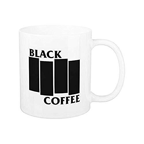 Tazas de café Tazas de café con bandera negra divertidas Regalos para el día de la madre Tazas divertidas y novedosas Presente 11 oz