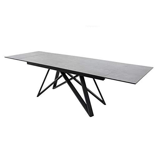 Invicta Interior Ausziehbarer Esstisch Atlas 180-220-260cm Keramikplatte in Beton-Optik Konferenztisch Tisch