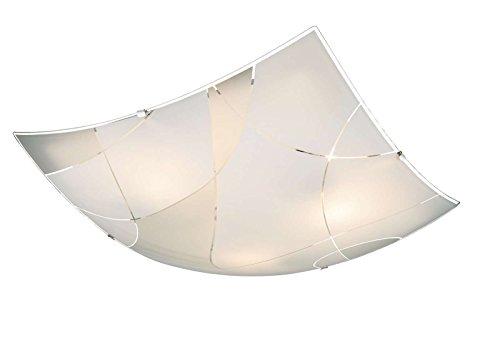 Lampada da soffitto a 3 luci, lampada da corridoio, lampada da cucina, 40 cm, vetro (illuminazione a soffitto, lampada da soffitto, lampada da soggiorno, lampada da camera da letto, angolare)