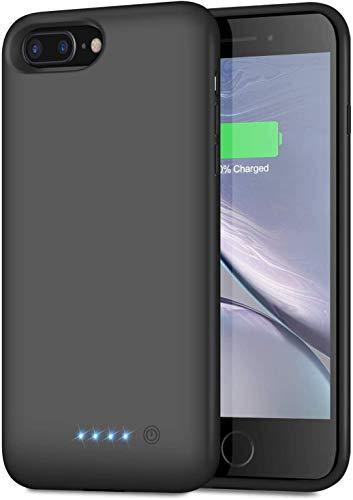 Cover Batteria per iPhone 6 Plus/6S Plus/8 Plus/7 Plus, Trswyop【8500mAh Alta Capacità】Ricaricabile Custodia Batteria Cover Caricabatterie Batteria Esterna per iPhone 6 Plus/6S Plus/8Plus/7Plus [5.5'']