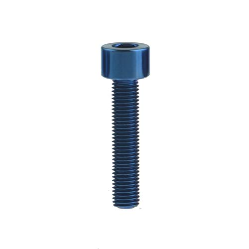 LIANGANAN Xingxi Titanium TI Bolt M6x10 15 16 18 20 25 30 35 40 45 50 55 60 65mm Tornillo de estigma para MTB/Road Bicycle Sillero Freno de auriculares Herramientas (Color : Blue, Length : 50mm)