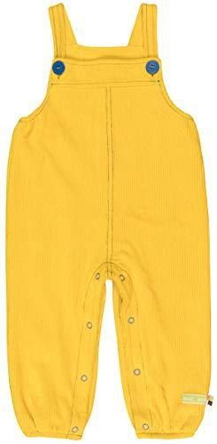 loud + proud Baby-Unisex Elastische Cord Bio Baumwolle, GOTS Zertifiziert Latzhose, Gelb (Honey Hon), 68 (Herstellergröße: 62/68)