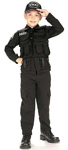 Young Heroes Child's SWAT Police Costume, Medium