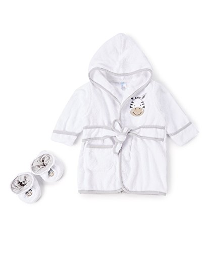 Spasilk 100% Cotton Hooded Terry Bathrobe with BootiesBaby Girl GiftsBaby Boy Gifts0-9 MonthsShower Gift