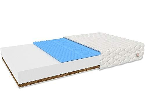 FDM Colchón de espuma Sorrento para niños, alta elasticidad, espuma de coco, dureza H2/H4 (dureza media/duro), altura 11 cm, funda extraíble lavable (80 x 160 cm)
