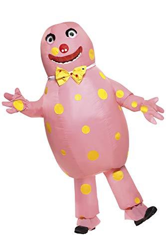 Smiffys 38054M - Herr Blobby-Kostüm mit aufblasbaren Anzug und Handschuhe