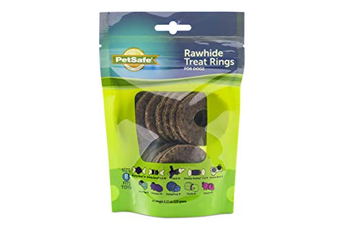 Price comparison product image PetSafe Rawhide Treat Rings for Busy Buddy Dog Toys 16 Refills,  Medium (Size B Rings)