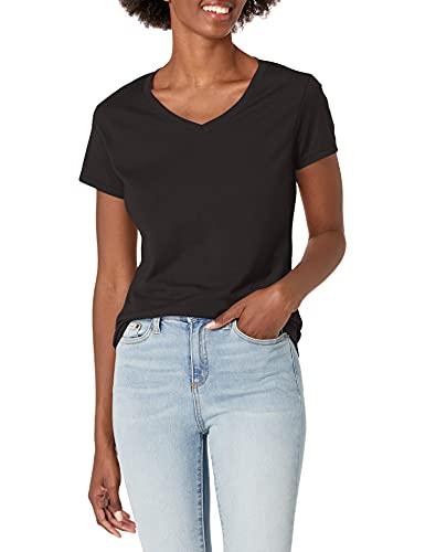 Hanes Women's X-Temp V-Neck Tee, Black, XX-Large
