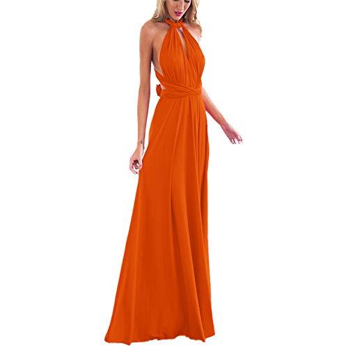 OBEEII Abito Donna Lungo Elegante Senza Maniche Sexy Multi Way Bandage Dress Vestito da Cerimonia...