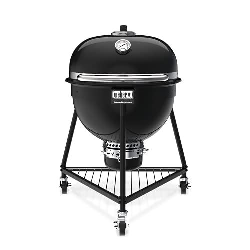 Weber 18201001 Summit Kamado E6 Charcoal Grill, Black