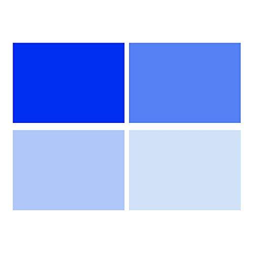 Selens 40x50cm Farbfolie Farbfilter 4 Stück Transparente Farbkorrektur Beleuchtungs Blitz Folien Farbfolien für 800W Rot Licht Stroboskop Taschenlampe Flash Fotostudio Fotografie Blau