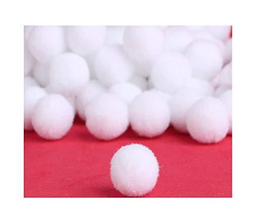 Perlin Pompons Pompon 25mm Weiß Bommel 100stk Nähen Tilda Basteln Borte bälle Flauschigen Plüsch Bälle für Lustige DIY Kreative Handwerk DEK73 x5