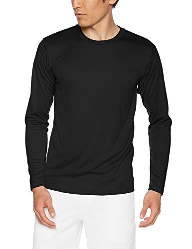 [グリマー] 長袖 3.5オンス インターロック ドライ Tシャツ 00352-AIL ブラック 3L (日本サイズ3L相当)