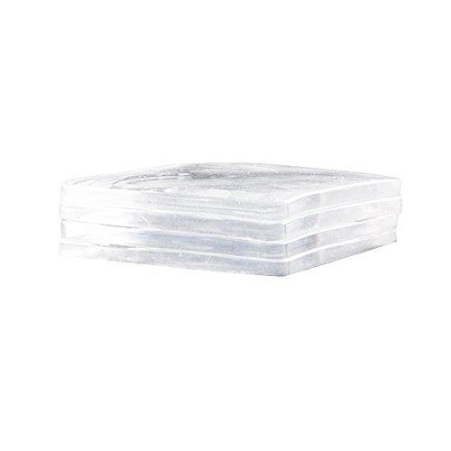 Antivibrationskissen für Waschmaschinentrockner oder andere Maschinen, Antirutsch, Stoßdämpfung und Geräuschreduzierung, 4-teiliges Set (Clear)