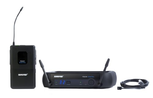 Shure PGXD14/93-X8 Digital Wireless Microphone System with WL93 Lavalier Mic,Black